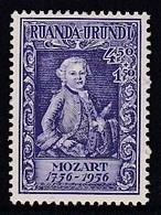 TIMBRE NEUF DU RUANDA-URUNDI - MOZART, ENFANT (BICENTENAIRE DE SA NAISSANCE) N° Y&T 200 - Musica