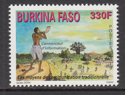 2013 Burkina Faso Traditional Communication  Complete Set Of 1 MNH - Burkina Faso (1984-...)