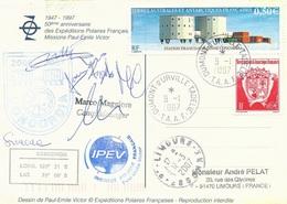 TAAF-Dumont D'Urville-T.Adélie: Carte Illustrée PE Victor Avec N°415 Station Concordia Et 324 Armoiries - 09/01/2007 - Franse Zuidelijke En Antarctische Gebieden (TAAF)