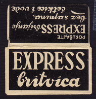 Razor Blade EXPRESS BRITVICA Old Vintage WRAPPER (see Sales Conditions) - Razor Blades
