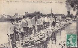 CARTE POSTALE ANCIENNE 49 ANGERS 6eGENIE CONSTRUCTION DE LA PASSERELLE DOUBLE SUR TRAVÉE PALEE  EDITIONS / L.V N° 15 - Angers