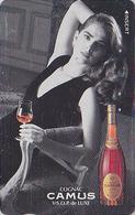 TC Japon / 110-011 - ALCOOL FRANCE - COGNAC CAMUS & BROOKE SHIELDS Cinéma Movie Star - ALCOHOL Japan Phonecard - 1033 - Werbung