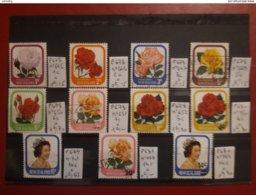 Nouvelle-Zélande - Roses - 11 X Oblitérés ; Côte / 8 - Nouvelle-Zélande