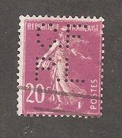 Perfin/perforé/lochung France No 190 C.F P.L Cie Française Des Produits Liebig - Perfins
