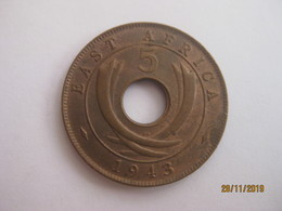British East Africa: 5 Cents 1943 - British Colony