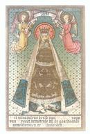 Santini Image Pieuse Holy Card GOLDPRINT LOMBAERTS MIRACULEUS BEELD O.L.V. VAN TROOST GESCHOENDE CARMELITESSEN VILVOORDE - Santini