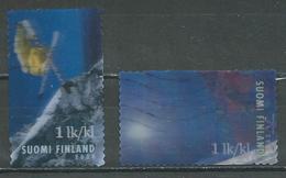 Finlande YT N°1854-1855 Ski Alpin (procédé Lenticulaire) Oblitéré ° - Finlande