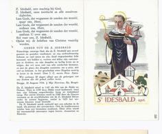 Santini Image Pieuse Holy Card  ST. IDESBALD O.P.N. PATROON DER ZEEVAARDERS - Santini