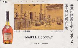 TC Japon / 110-47336 - ALCOOL FRANCE -  COGNAC MARTELL ** SERIE HISTORIQUE 2/5 **  ALCOHOL DRINK Japan Phonecard - 1039 - Werbung