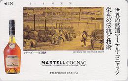 TC Japon / 110-47338 - ALCOOL FRANCE -  COGNAC MARTELL * SERIE HISTORIQUE 4/5 Tonneau *  ALCOHOL Japan Phonecard - 1041 - Werbung