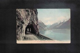 Schweiz / Switzerland Axenstrasse Interesting Postcard - Svizzera