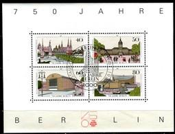 Berlin - Mi Block 8 = 772 / 775 - ESST OO Gestempelt - 750 Jahre Berlin - [5] Berlin