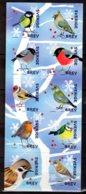 2018 Sweden - Winter Birds - Booklet Of 10 V S.adhesiv MNH** Sparrow, Bullfinch, Great Tit MiNr. 3250 - 3259 - Suecia