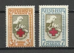 ESTLAND Estonia 1922 Michel 29 - 30 A MNH - Estonia