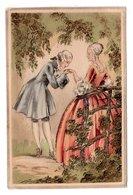 CP Couple Romantique Style Marquis Marquise Le Baisemain - Illustrators & Photographers