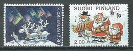 Finlande YT N°1331-1332 Noel 1996 Oblitéré ° - Finlande