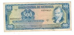 Nicaragua 500 Cordobas 1979, P-133 , VF/XF. - Nicaragua