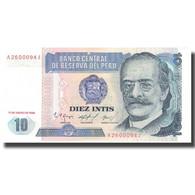 Billet, Pérou, 10 Intis, 1986, 1986-01-17, KM:128, SPL+ - Perú