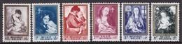 SERIE NEUVE DE BELGIQUE - TABLEAUX DE MERE ET ENFANT N° Y&T 1198 A 1203 - Arte