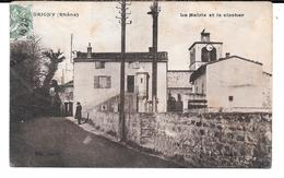 Cpa Grigny - La Mairie Et Le Clocher . - Grigny
