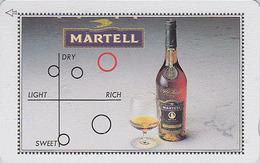 Télécarte Japon / 110-011 - ALCOOL FRANCE - COGNAC MARTELL - ALCOHOL Japan Phonecard - ALKOHOL - 1048 - Werbung