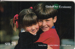 SWITZERLAND - Family Time, Global One Prepaid Card SFR 20, Tirage 25000, Exp.date 09/02, Used - Suisse