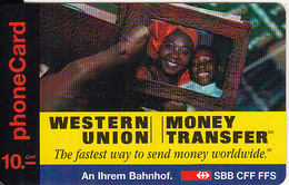 SWITZERLAND - Western Union, Alo Call Prepaid Card SFR 10, Used - Suisse