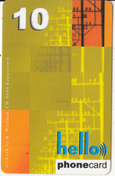 SWITZERLAND - Hello Prepaid Card CHF 10, Used - Suisse