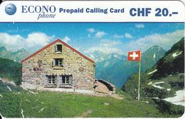 SWITZERLAND - EconoPhone Prepaid Card CHF 20, Used - Schweiz