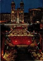 ITALIA. ROMA DI NOTTE. CHURCH OF TRINITÁ DEI MONTI.42925. (560) - Altre Città