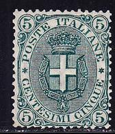 * ROYAUME D'ITALIE - * - N°57 - 5c Vert - TB - 1861-78 Victor Emmanuel II.