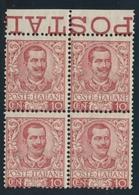 ** ROYAUME D'ITALIE - ** - N°67 - 10c Carmin - Bloc De 4 - BDF - TB - 1861-78 Victor Emmanuel II.