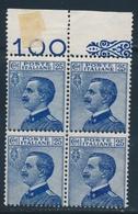 ** ROYAUME D'ITALIE - ** - N°79 - Bloc De 4 - Recto Verso - Haut De Feuille - TB - 1861-78 Victor Emmanuel II.