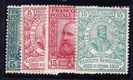 * ROYAUME D'ITALIE - * - N°83/86 -  Les 4 Val. -TB - 1861-78 Victor Emmanuel II.