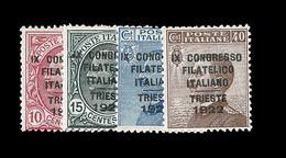 ** ROYAUME D'ITALIE - ** - N°117/20 - Les 4 Val. - TB - 1861-78 Victor Emmanuel II.