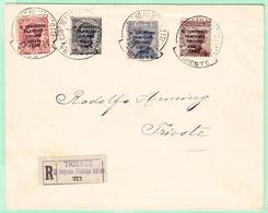 L ROYAUME D'ITALIE - L - N°117/20 - Les 4 Val. S/lettre Recom. Obl De L'expo. 1922 - Rare - TB - 1861-78 Victor Emmanuel II.