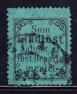 O NORVEGE - O - N°2 - Timbre Vert De Retour - 1872 - TB - Norvège