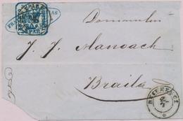 DEV ROUMANIE - DEV - N°10 - 10p Bleu Obl Bucarest De 1862 - TB - Oblitérés