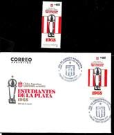 AA54-ARGENTINA,ARGENTINIEN 2019 SPORT FUSSBALL,FOOTBALL ESTUDIANTES DE LA PLATA F.C.PACK POSTFRISCH+ERSSTAGBRIEF,MNH+FDC - Famous Clubs