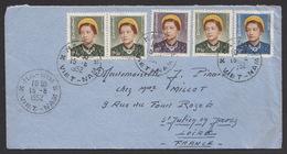 Vietnam 1952 Letter Hanoi To France FDC - Vietnam