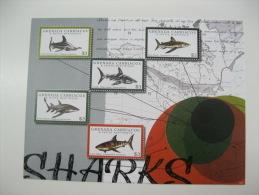 Grenada Grenadines-Fish-Marine Life-Map - Fische