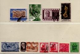Indien 1971 Siehe Bild/Beschreibung 10 Marken, Gestempelt India Used - India