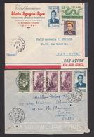 Vietnam 1953 2 X Airmail Indochina To Paris + Switzerland - Vietnam