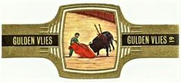 SERIE CORRIDA - N.º 19 - PASE DE RODILLAS - GULDEN VLIES - TOURADA - Cigar Bands - Cintas De Charuto - Cigar Bands
