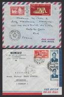 Vietnam 1954 2 X Airmail Indochina To France + Germany - Vietnam