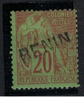 BENIN          N°  YVERT  :   7     NEUF AVEC  CHARNIERES      (  CH  02/43 ) - Benin (1892-1894)