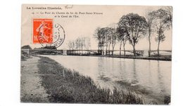 54 - Le Pont Du Chemin De Fer De PONT SAINT VINCENT Et Le Canal De L'Est - 1910 (G34) - Autres Communes