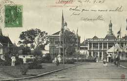 CAMBODGE  Phnom Penh Le Palais Du Roi + Beau Timbre 5C Inochine Francaise - Kambodscha
