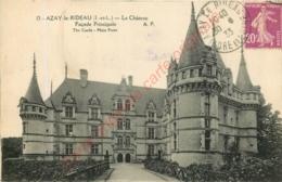 37.  AZAY LE RIDEAU . Le Château . Façade Principale . - Azay-le-Rideau