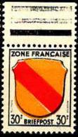 Allemagne Zone Francaise Poste N** Yv:10 Mi:10 Armoiries Du Pays De Bade Bord De Feuille - Zone Française